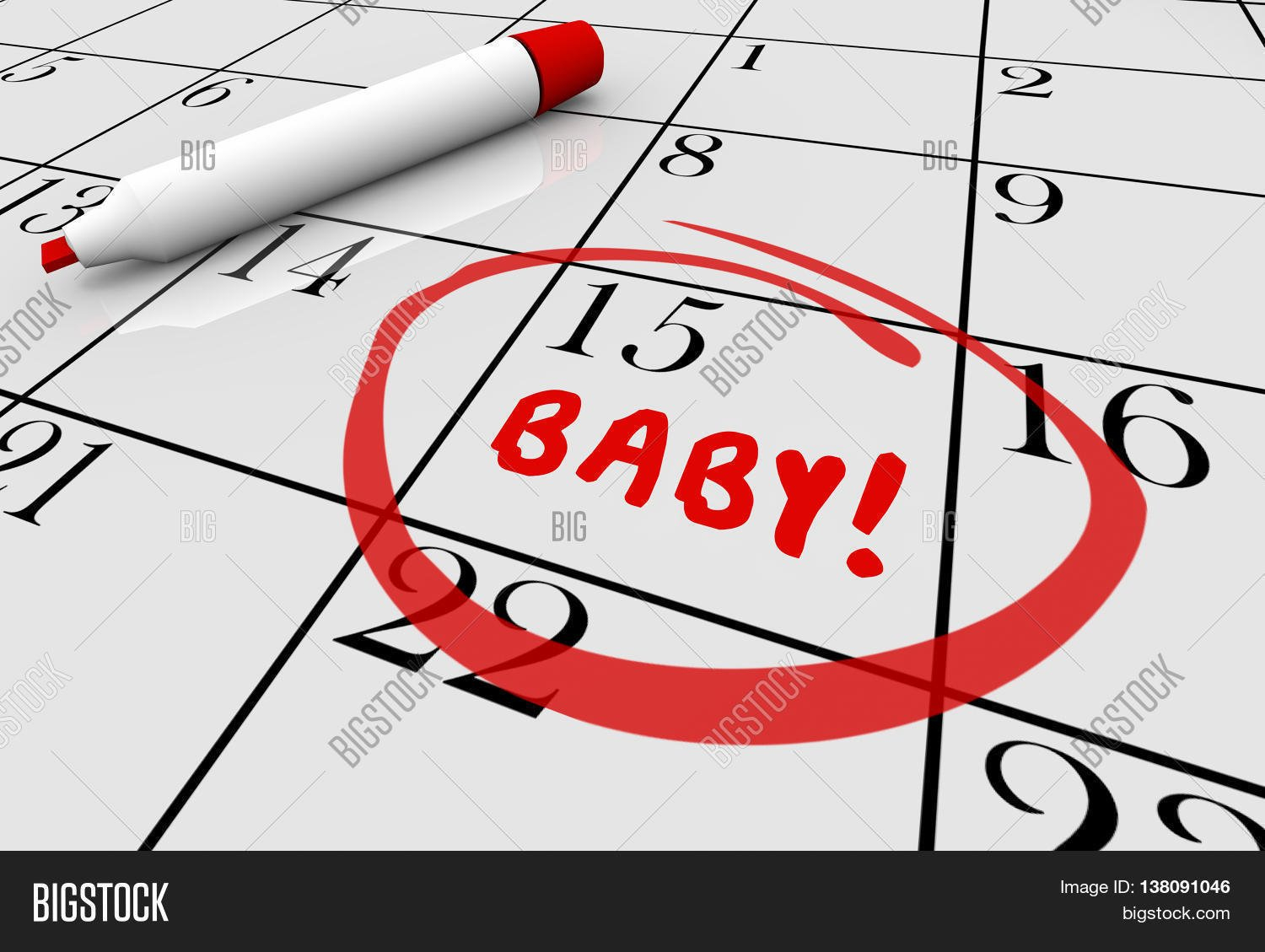 Baby Due Date Delivery Image & Photo (Free Trial) | Bigstock Free Baby Due Date Calendar