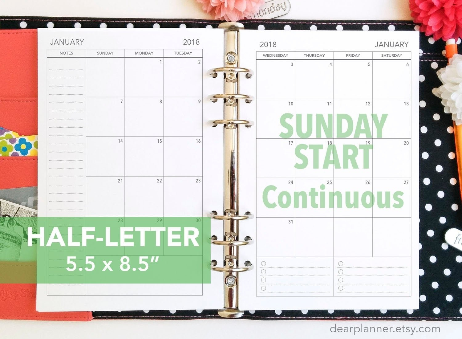 Blank 2 Page 5.5X8.5 Free Printable Calander Pages | Monthly Show Me Monthly Calendars With Agenda Pages That Are 5.5X8.5