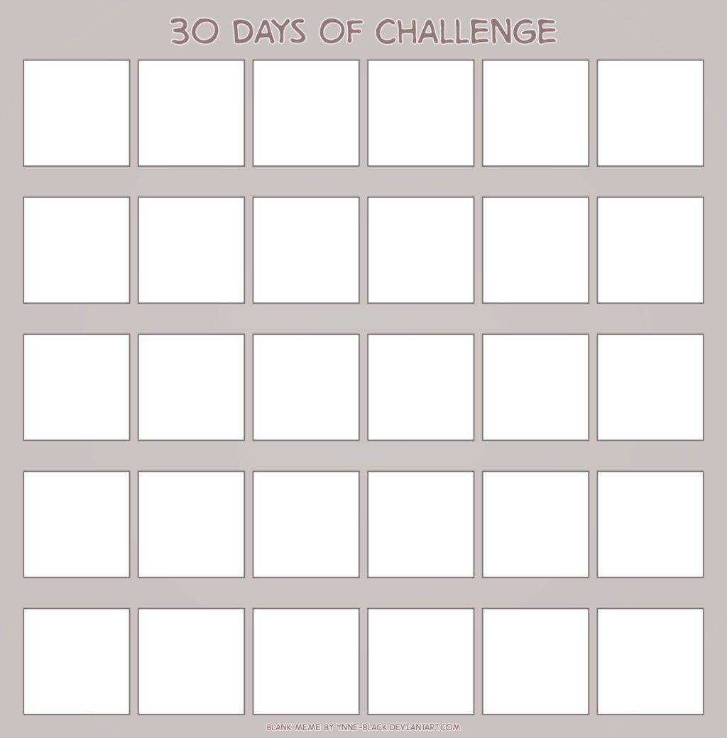 Blank 30 Day Calendar – Samyysandra 30 Day Blank Printable