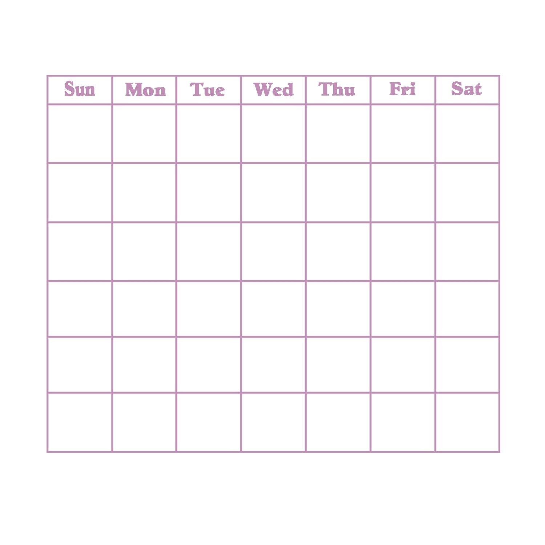 Blank 31 Day Calendar   Calendar Template 2019 31 Days 31 Day Calendar Printable
