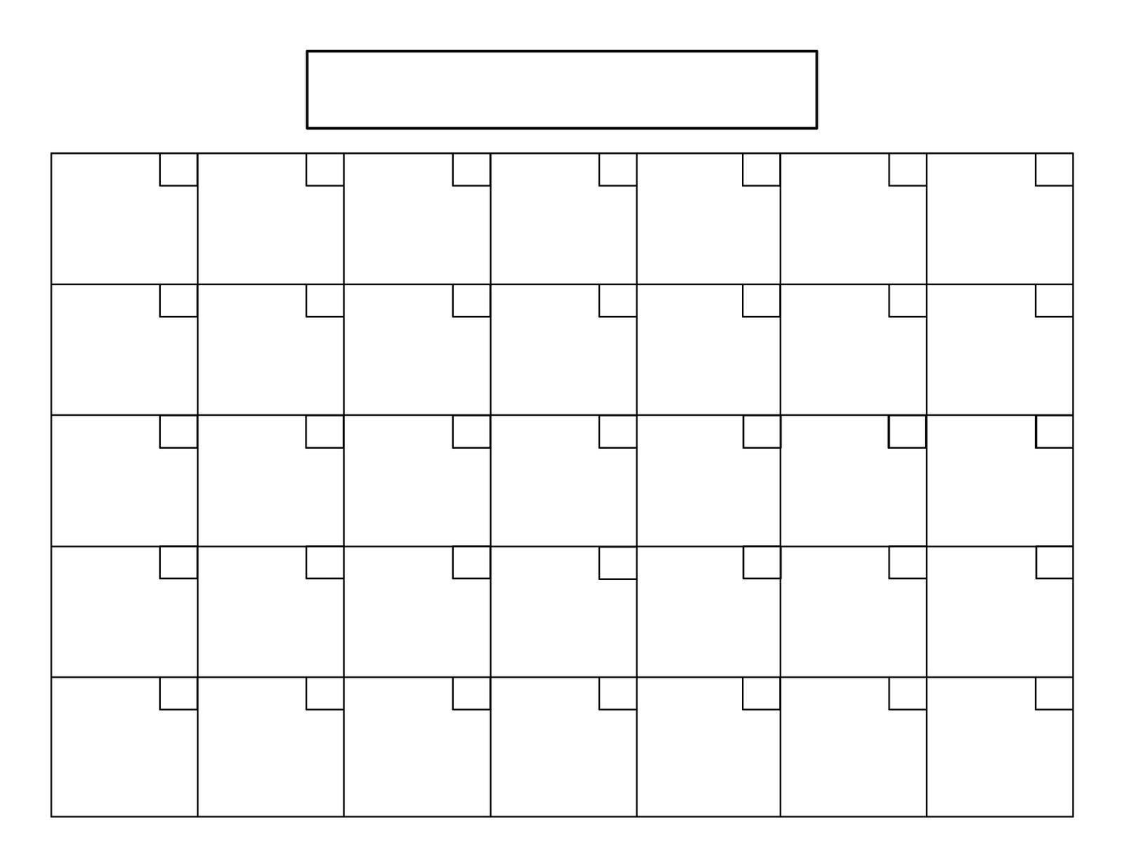 Blank Calendar Squares | Пустой Календарь, Страницы Blank 31 Day Calendar Where You Can