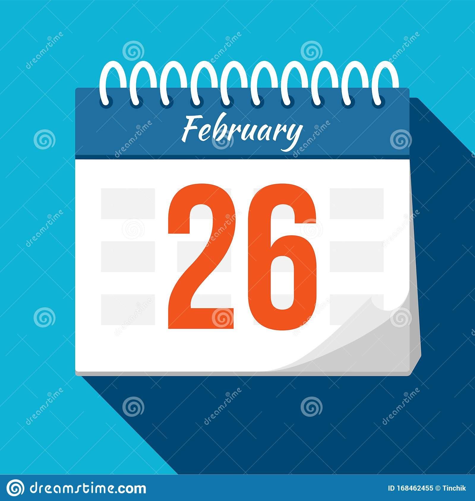 Calendar Icon. Calendar Date – February. Planning. Time Free Calendar For Time Management