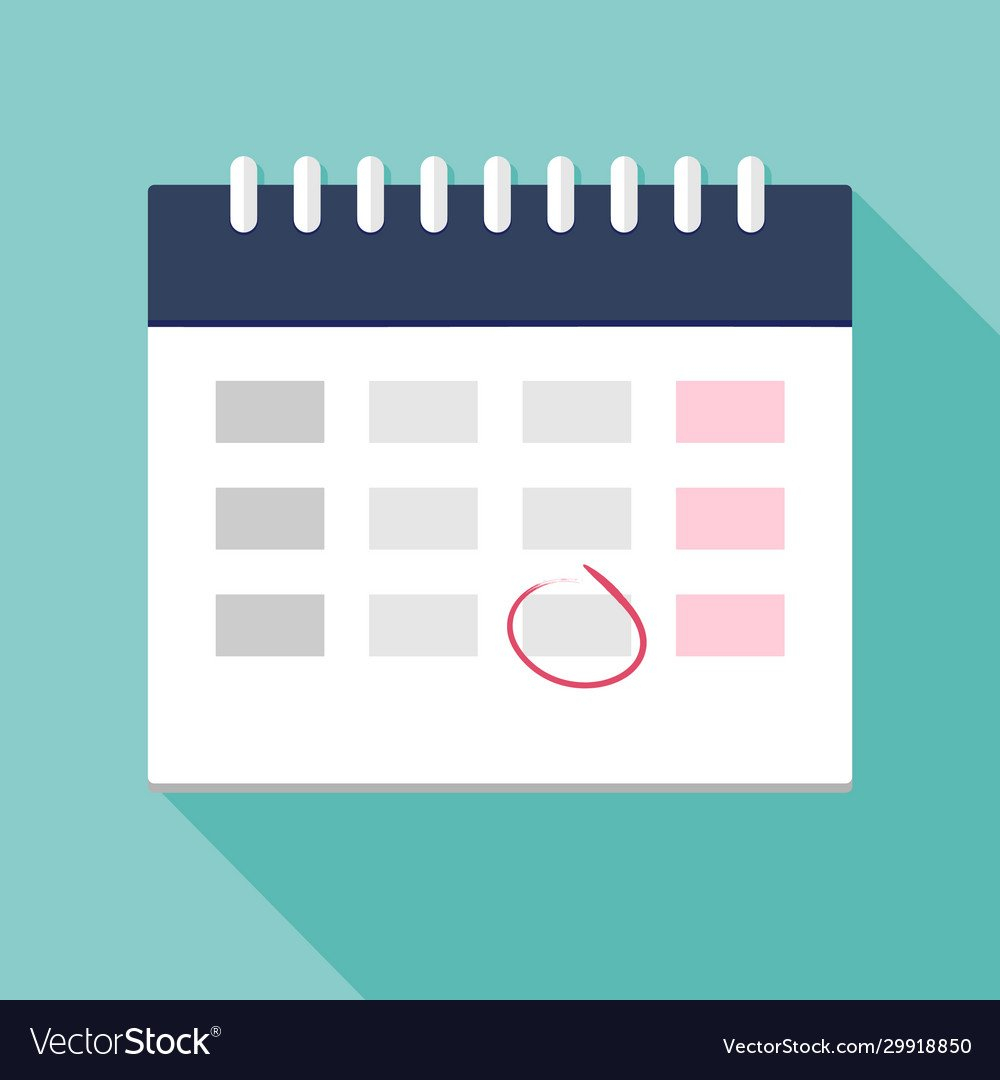 Calendar Icon With Mark Planning Time Management Free Calendar For Time Management
