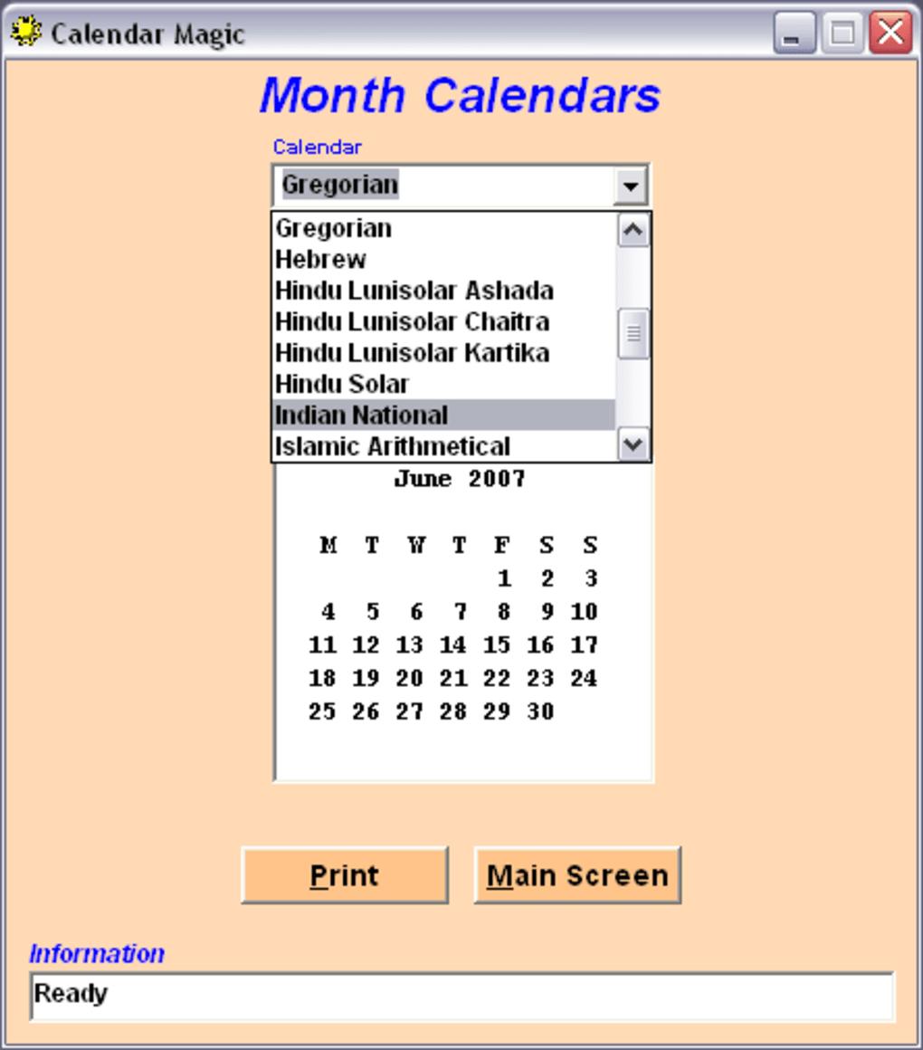 Calendar Magic – Download Software Free Calendario Giuliano
