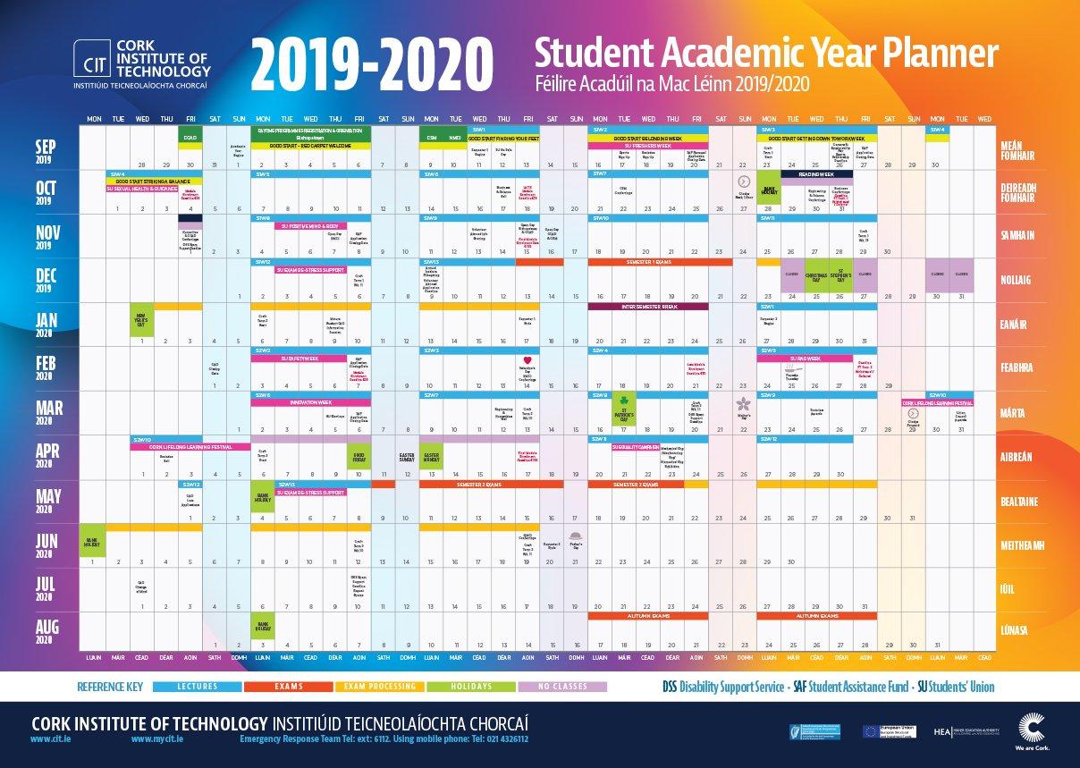 Cit – Cork Institute Of Technology – Semester Dates And Calendar Hr Annual Engagment Plan Calender