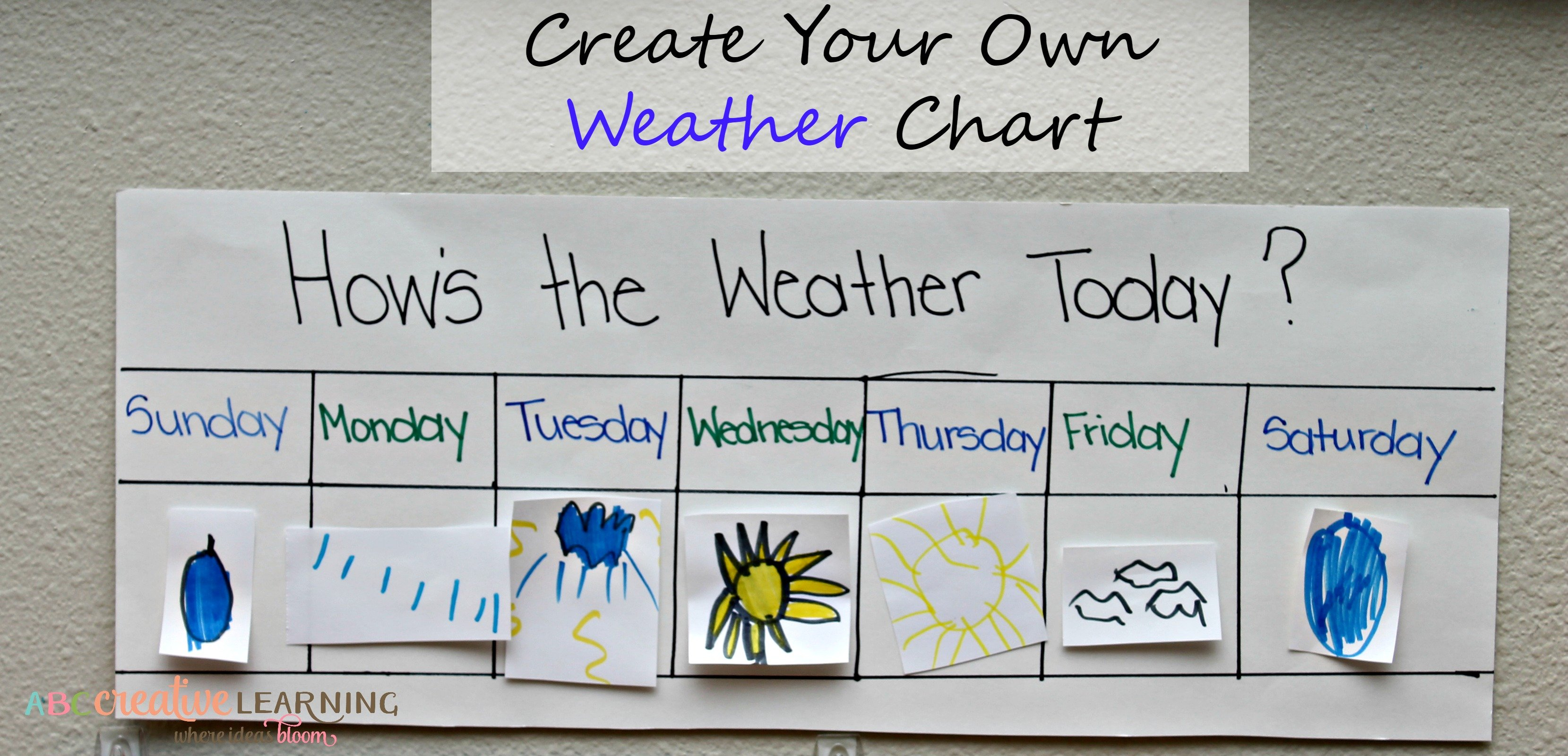 Create Your Own Classroom Weather Chart – Simply Today Life Create A Chart From Monday To Friday
