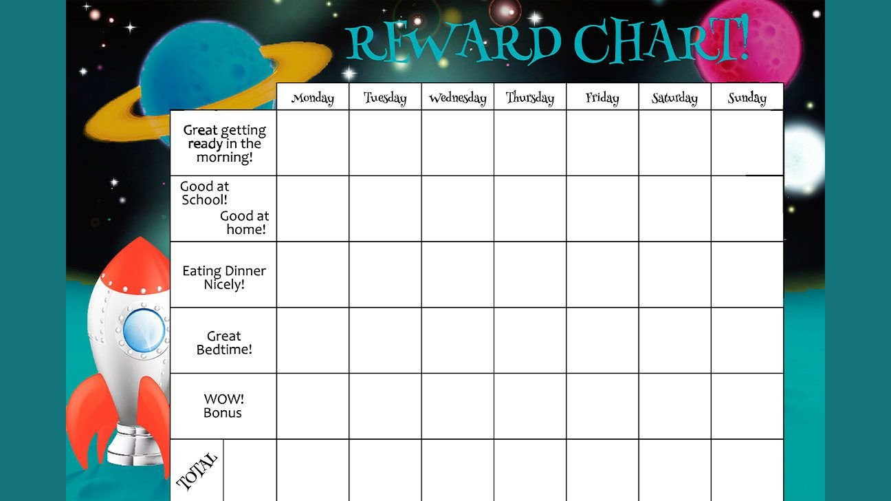 Creating An Effective Behavior Chart: Types, Treats, Tips & More Create A Chart From Monday To Friday