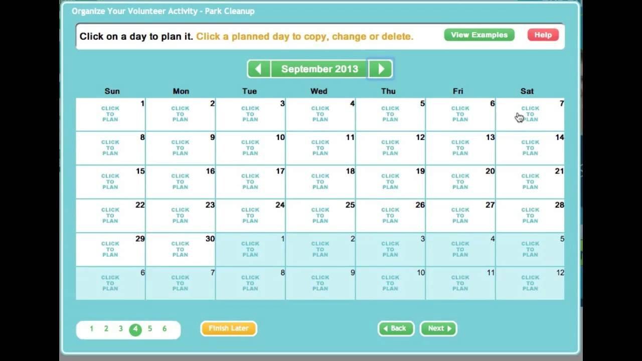 Creating An Online Sign Up Sheet Or Volunteer Calendar Calendar Sign Up Sheet Template