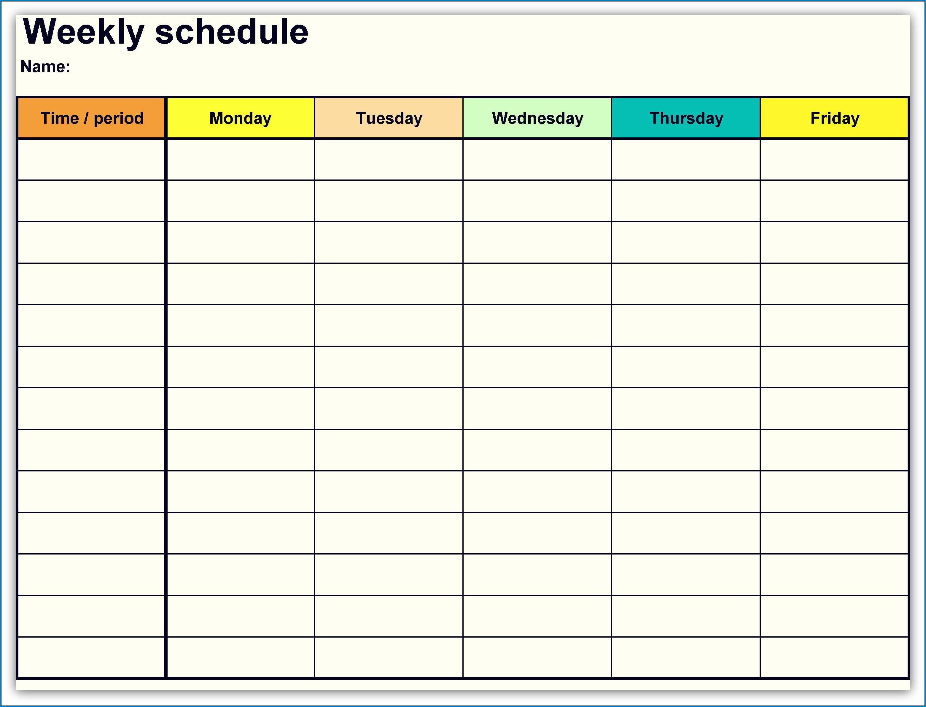 √ Free Printable Weekly Calendar Template   Templateral Printable One Week Calendar Free