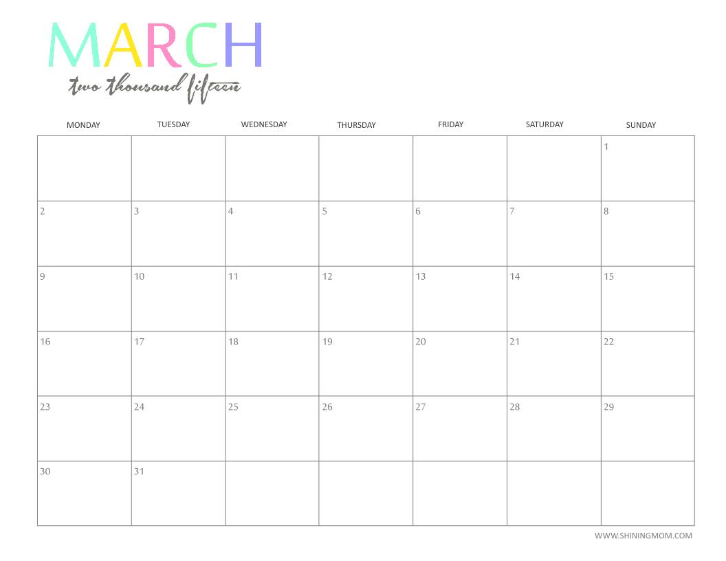 Free 2015 Printable Calendarshiningmom: Fun And Guess The Due Date Printable Calendar
