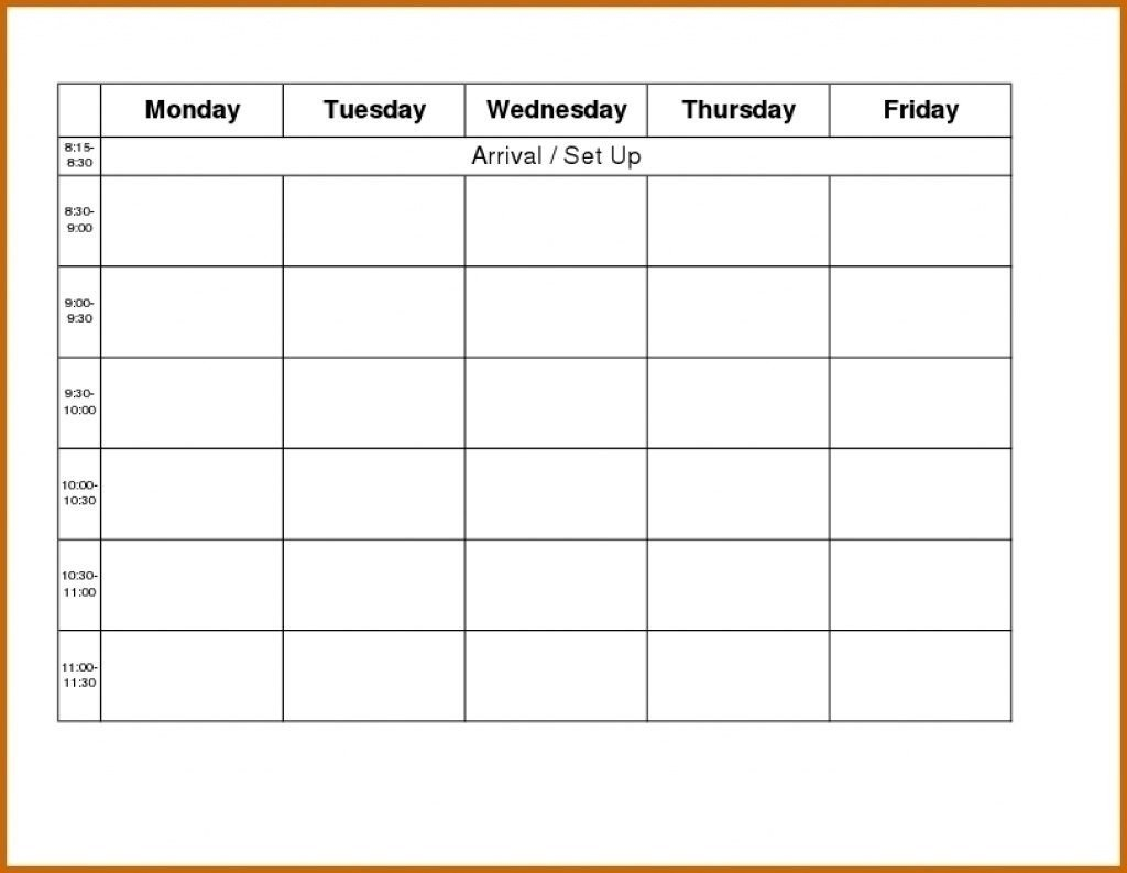 Free Blank Printable Monthly Calendar Monday – Friday Free Printable Monday Friday Calendar