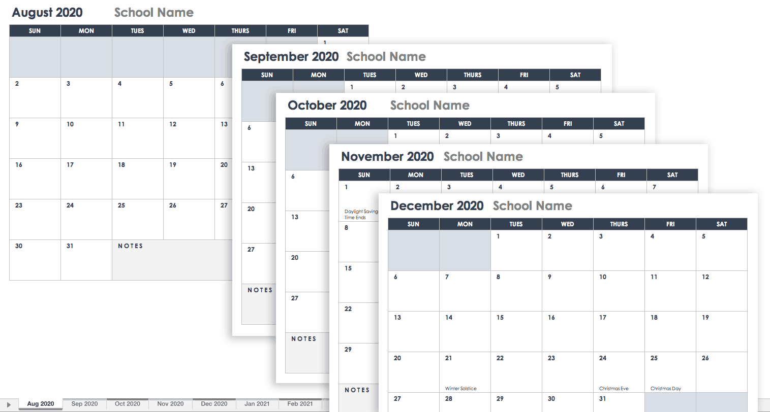 Free Google Calendar Templates | Smartsheet Google Spread Sheet Template Clender
