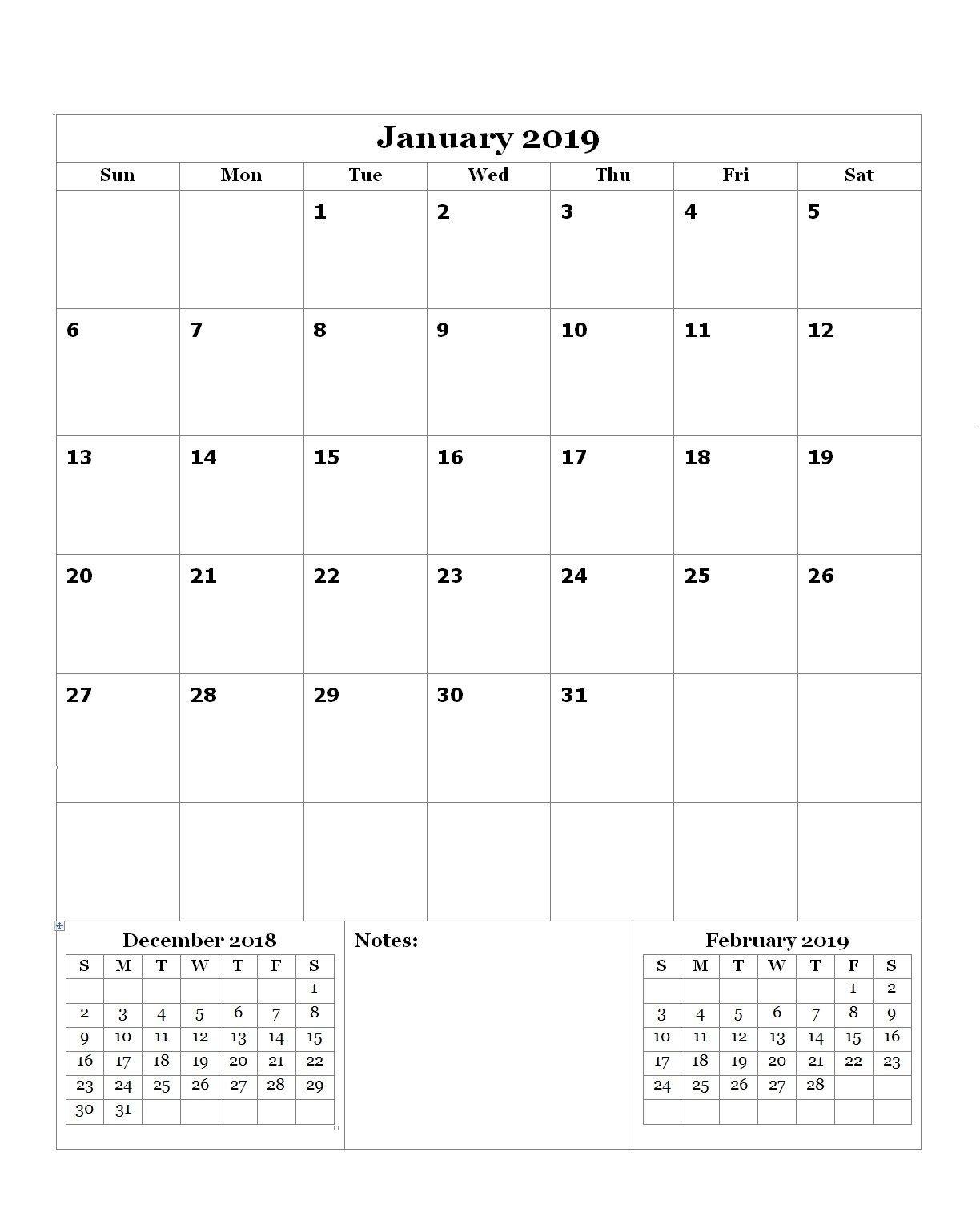 Free January 2019 Editable Calendar   Calendar, Calendar Free Calendar To Edit