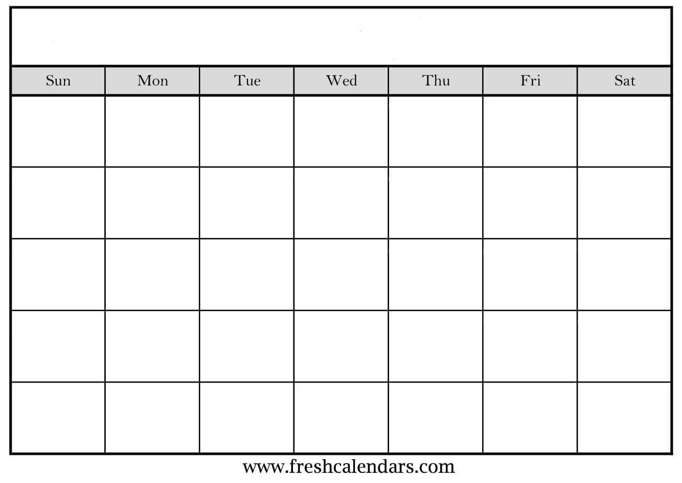 Free Printable Blank Calendar 2020 Fill In Blank Calendar Templates