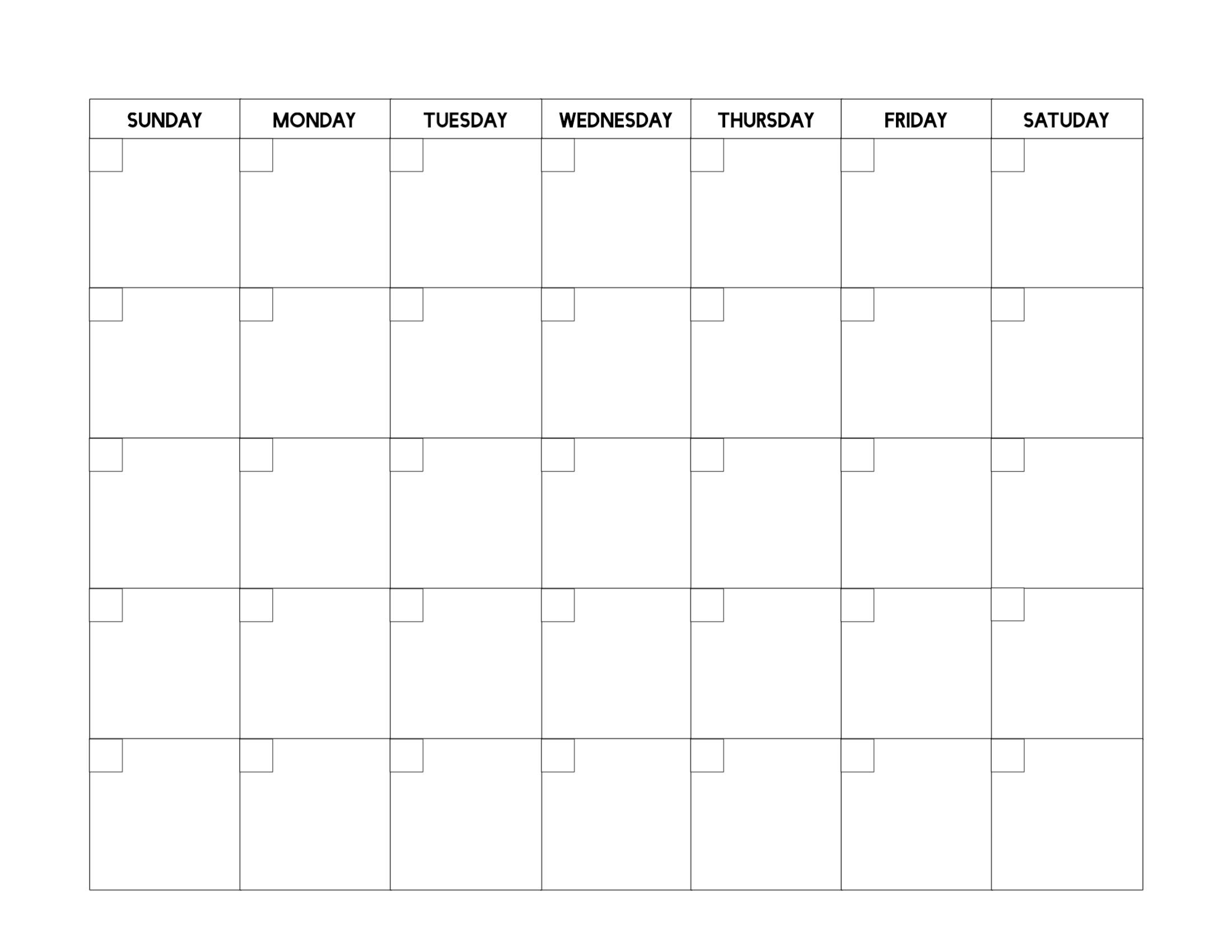Free Printable Blank Calendar Template - Paper Trail Design Free Printable Calendar Fill In