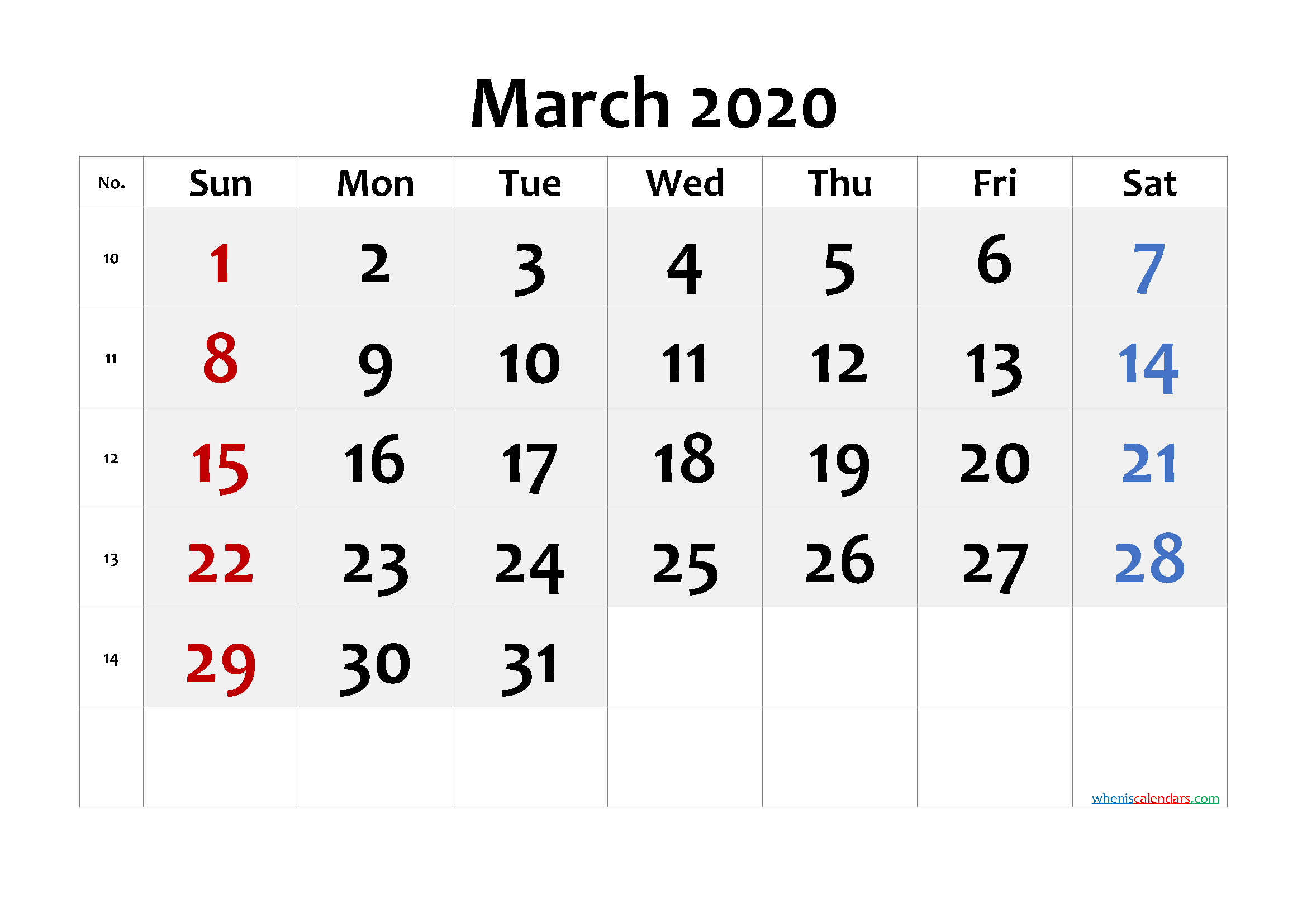 Free Printable Calendar 2020 March – Free Printable Monthly Free Printable Calendars 8 Week