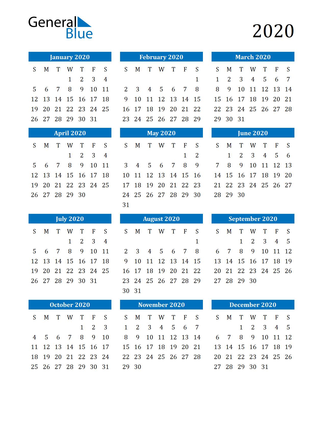 Free Printable Calendar In Pdf, Word And Excel 4 Year Printable Calendar