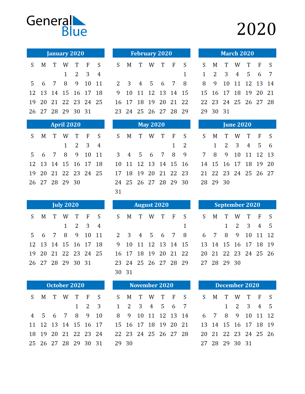 Free Printable Calendar In Pdf, Word And Excel Multi Year Printable Calendars Free