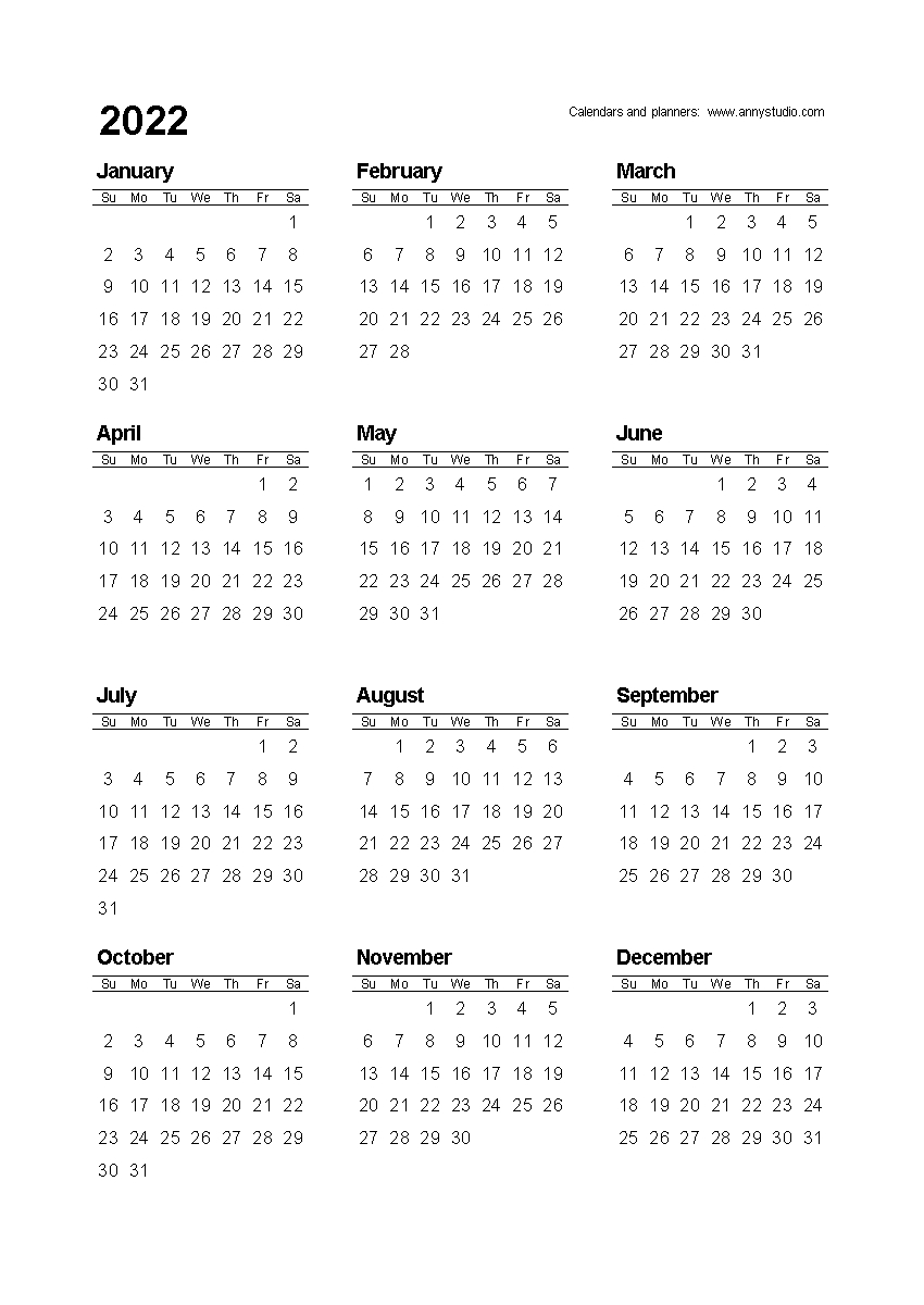 Free Printable Calendars And Planners 2020, 2021, 2022 Small Calendar Page To Print For Desk