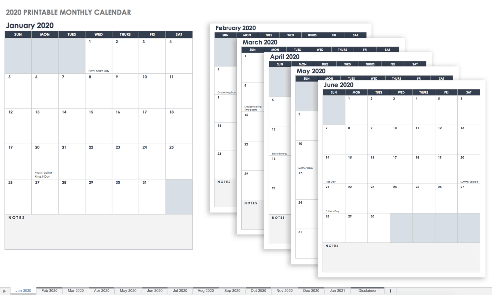 Free, Printable Excel Calendar Templates For 2019 & On Birthday Calendar Fill In Online