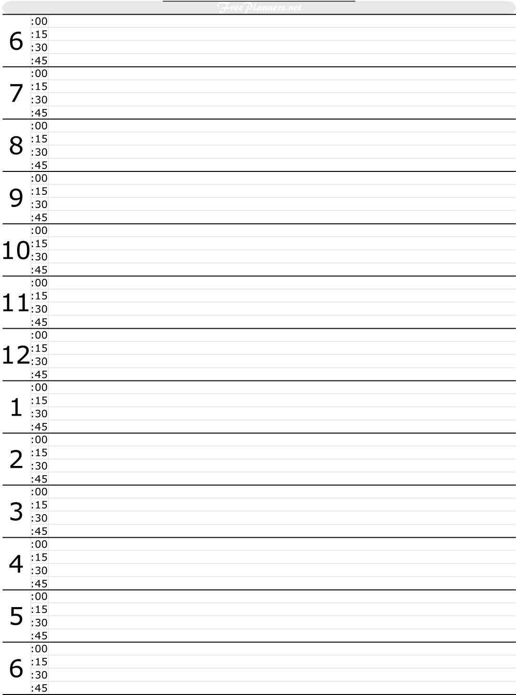 Free Printable Hourly Daily Planner   Free Daily Planner Daily Hourly Weekly Calendar