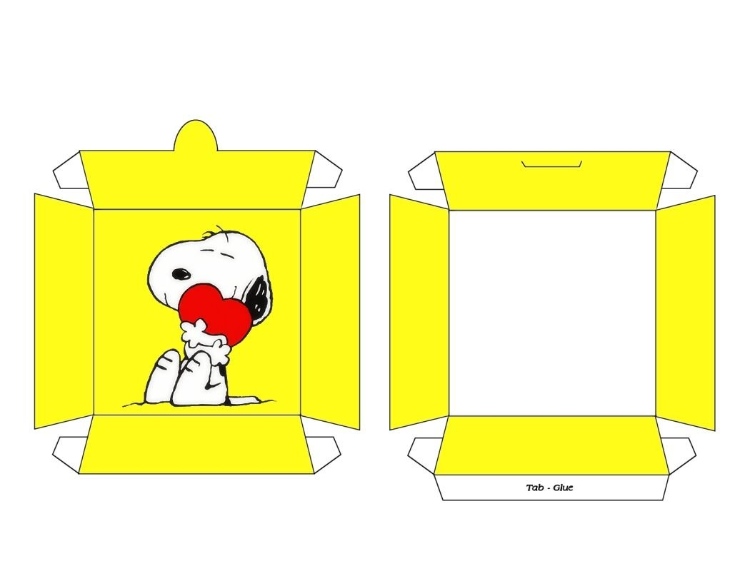 Free Printable Snack Boxes. Free To Use And Free To Share Free Printable Snoopy Template