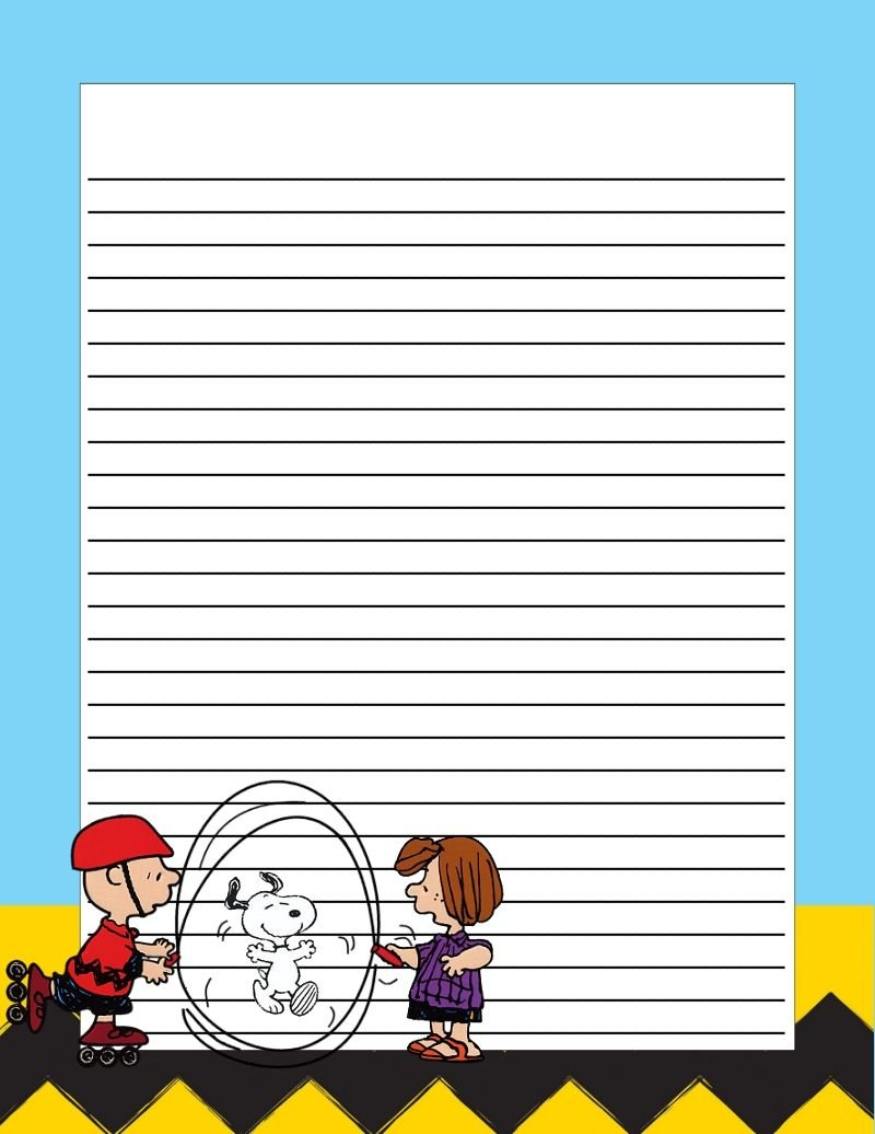 Free Printable Stationery. Free To Use And Free To Share For Free Printable Snoopy Template