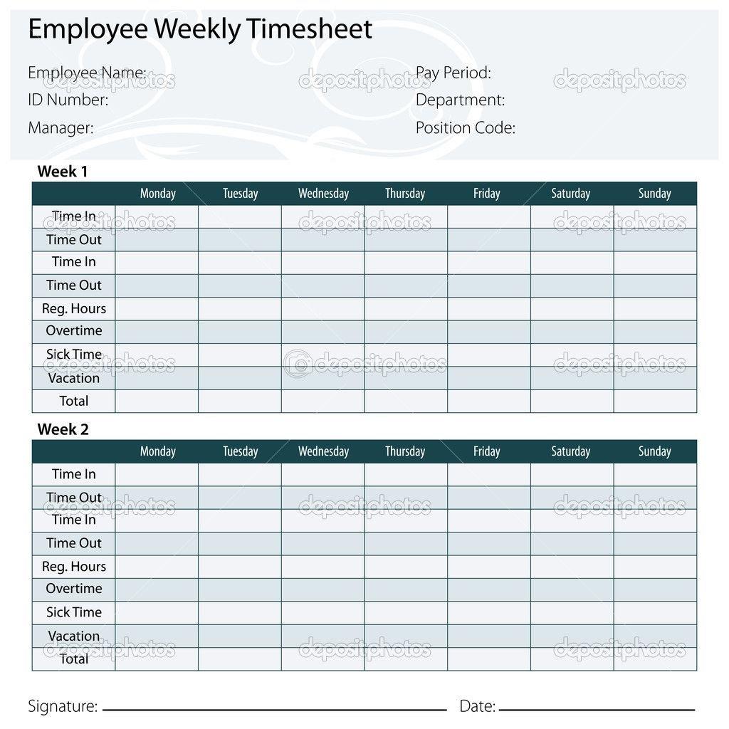 Free Printable Timesheet Templates | Timesheet Template Free Printable Time Sheet Calendar