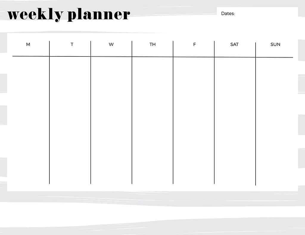Free Printable Weekly Calendars — Get Your Week Organized! One Week Printable Calnedar