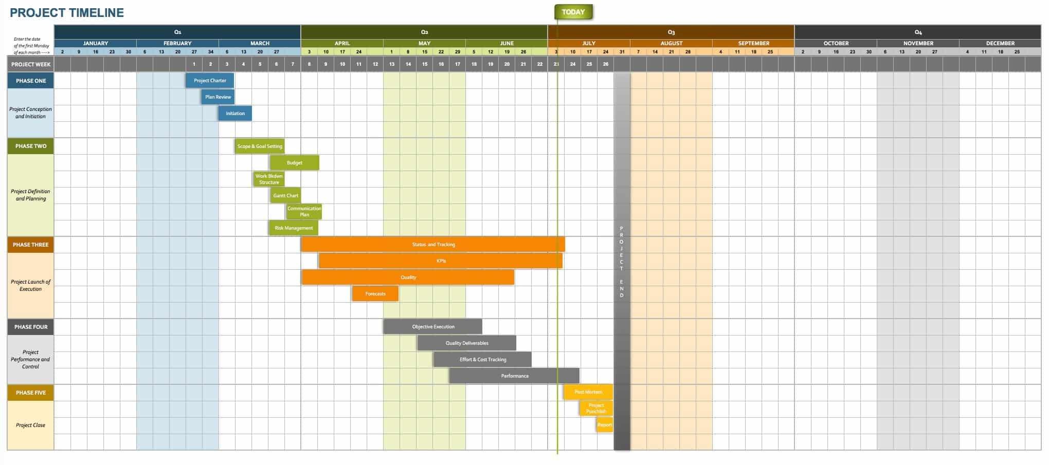 Free Project Calendar Templates   Smartsheet Excel 2020 Calendar Template Sprint