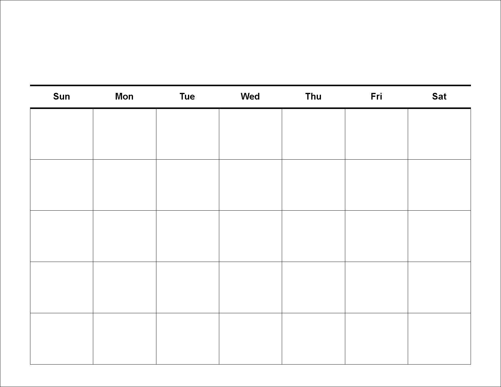 Get 30 Day Calendar Blank Printable Template Pdf Download 30 Day Blank Printable