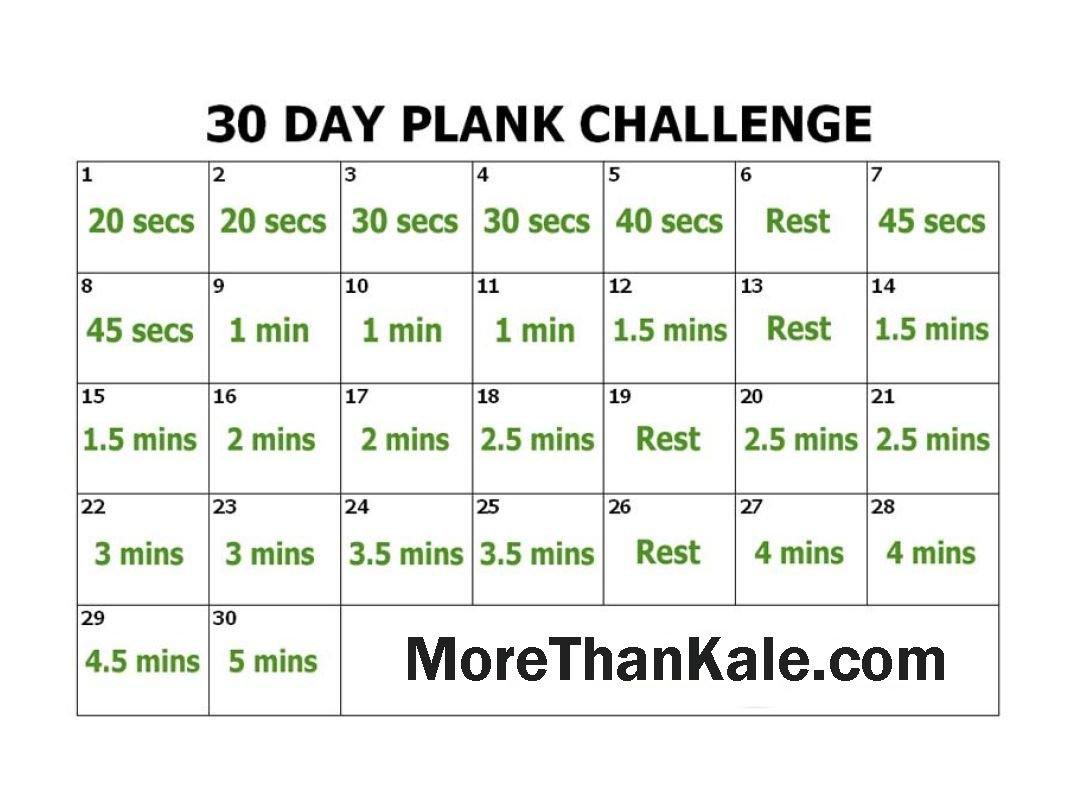 Innovative 30 Day Plank Challenge Printable Pdf Calendar Plank Challenge Chart Print Out