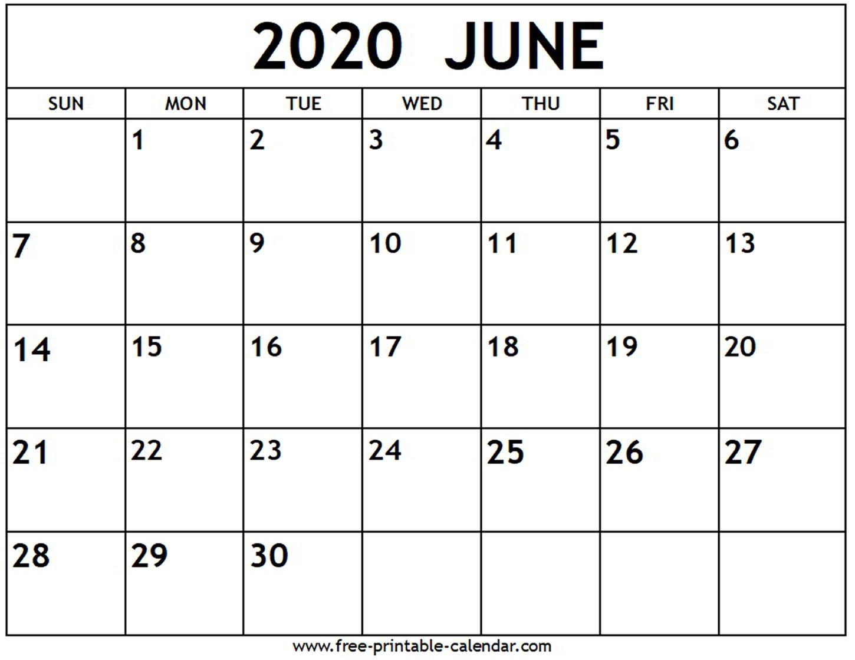 June 2020 Calendar – Free Printable Calendar Free No Download Printable Calendars
