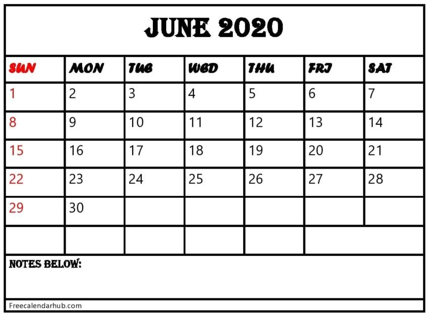 June 2020 Calendar Printable  Edit & Print As Many As You Want! Calendar That I Can Edit