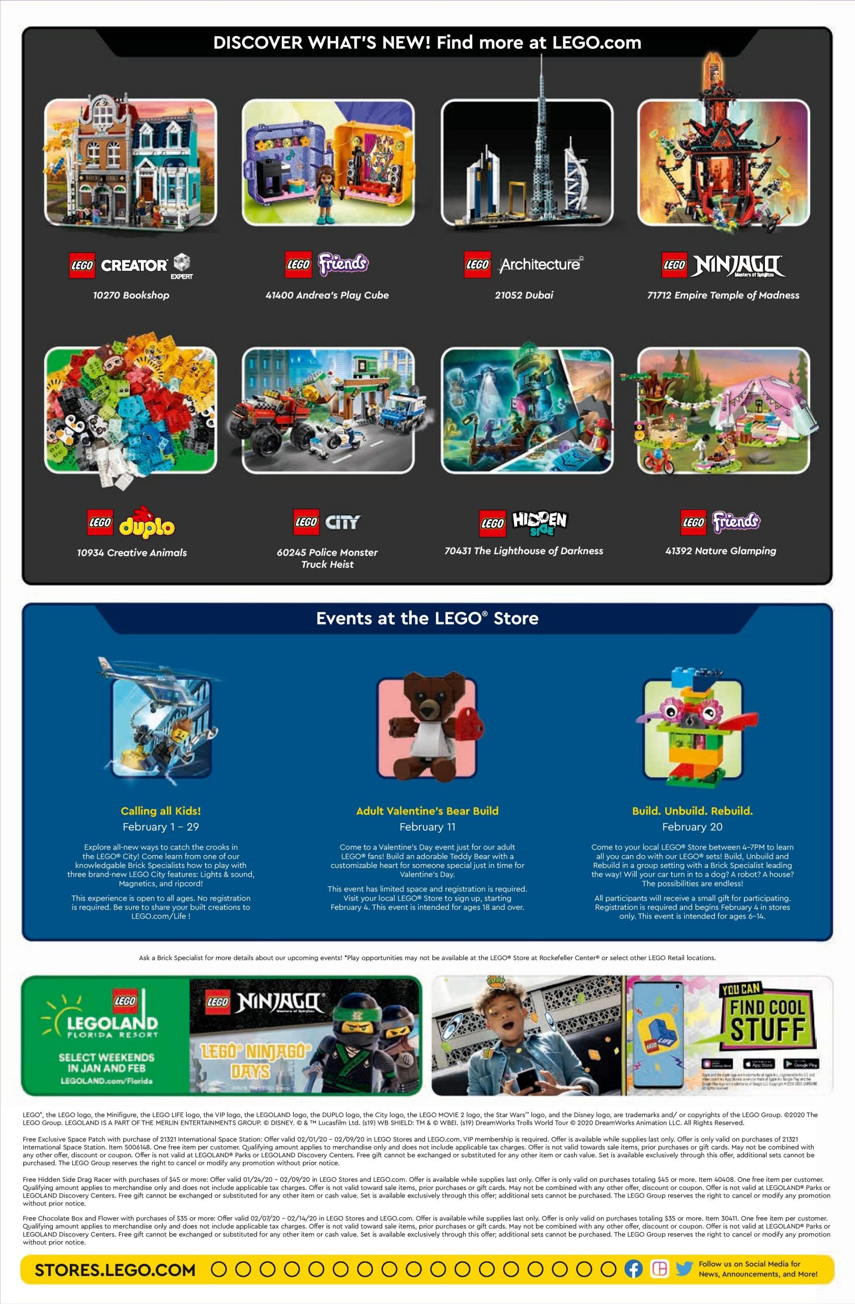 Lego February 2020 Store Calendar Promotions & Events – The Calendar Three Monsts Temple