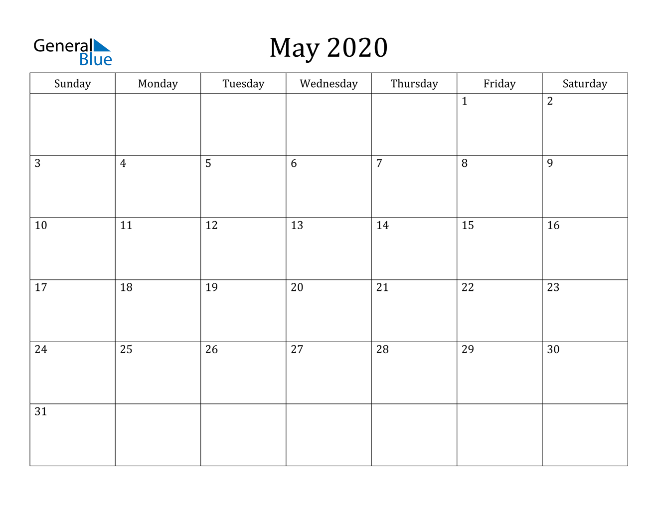 May 2020 Calendar – Pdf Word Excel A Calendar That I Can Edit