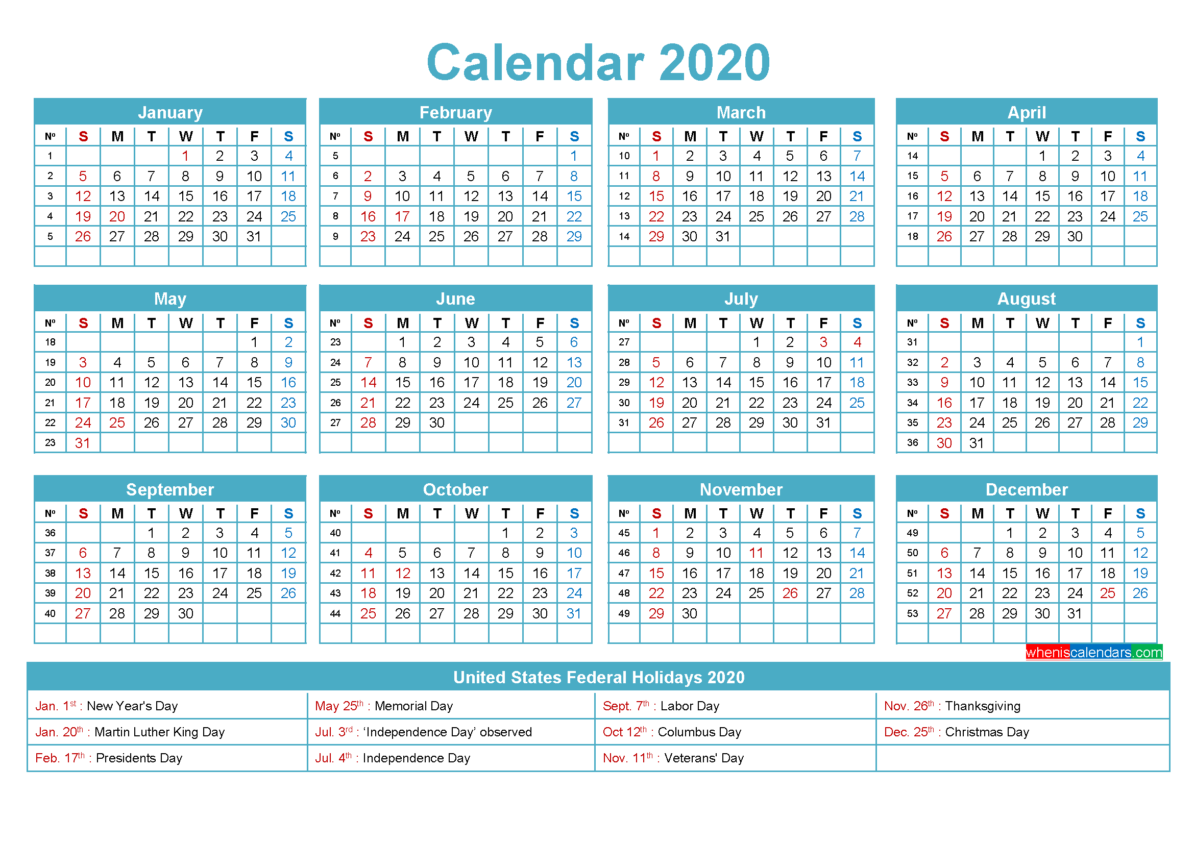 Mini Desk Calendar 2020 Free Printable | Free Printable 2020 Small Calendar Page To Print For Desk