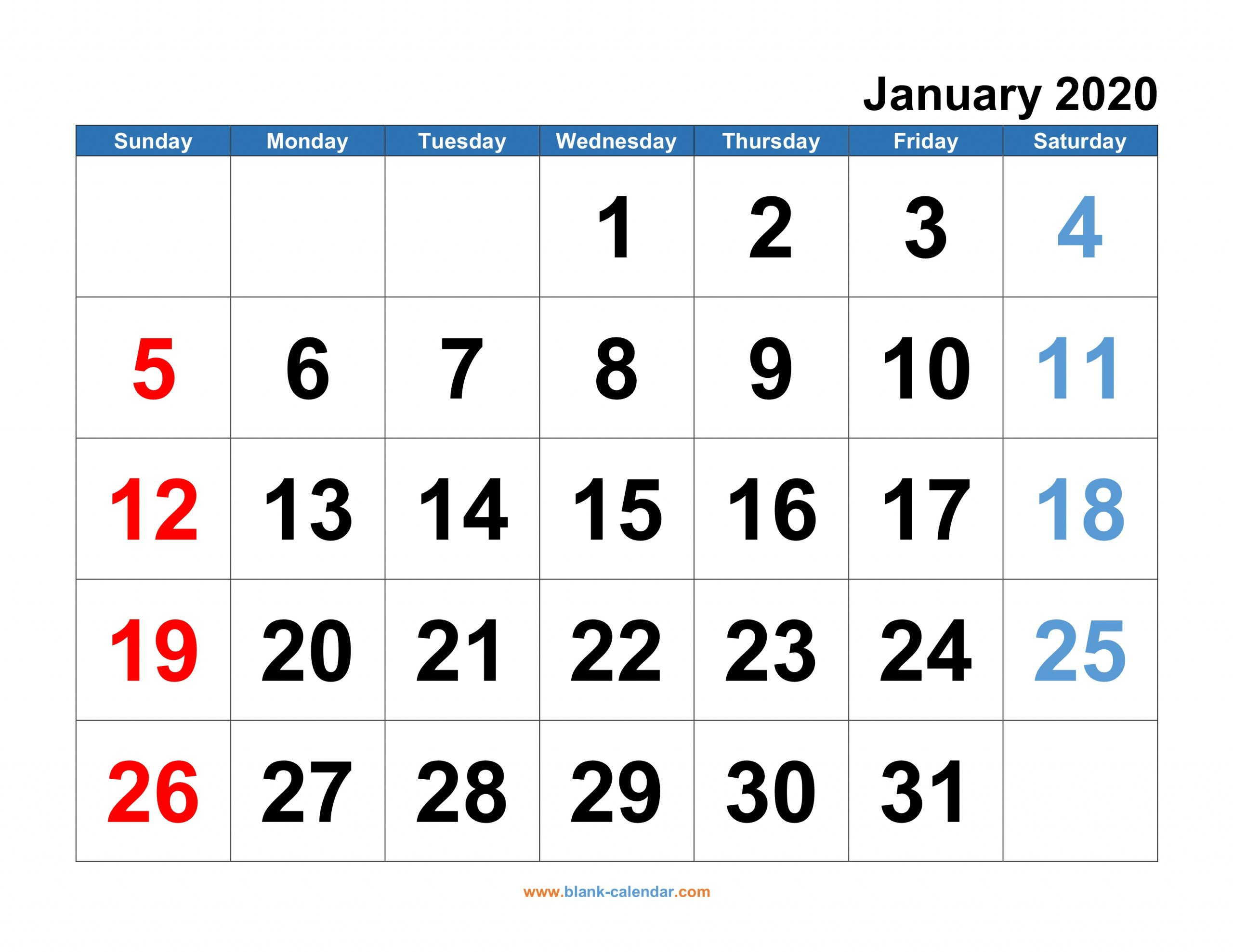 Monthly Calendar 2020   Free Download, Editable And I Need A Monthly Calendar That I Can Edit