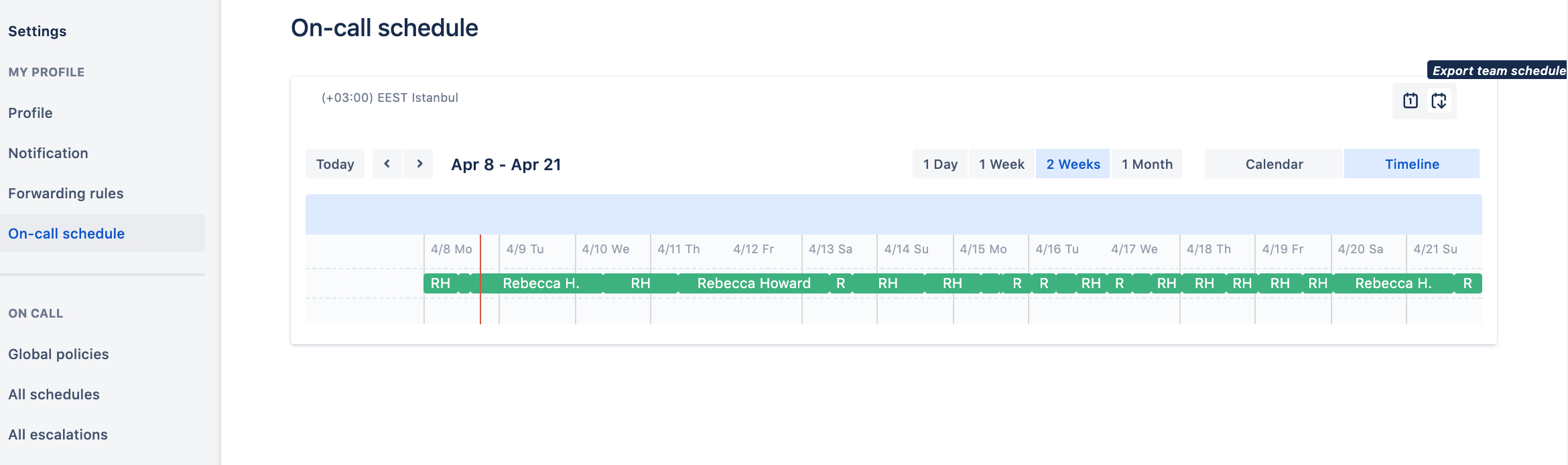 On Call Schedules And Rotations On Call Rotation Template