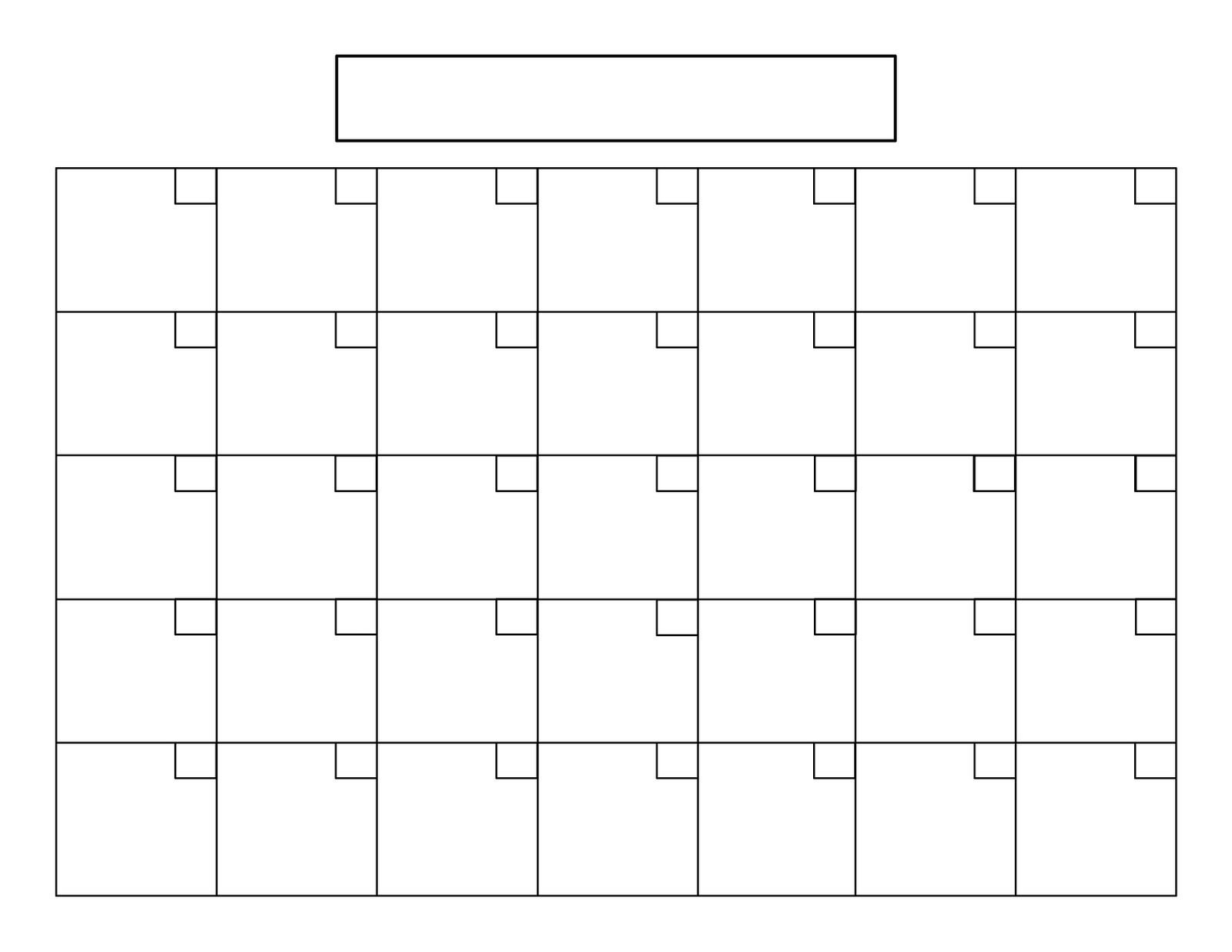 Perpetual Calendar Tutorial   Blank Calendar Template 31 Day Calendar Printable