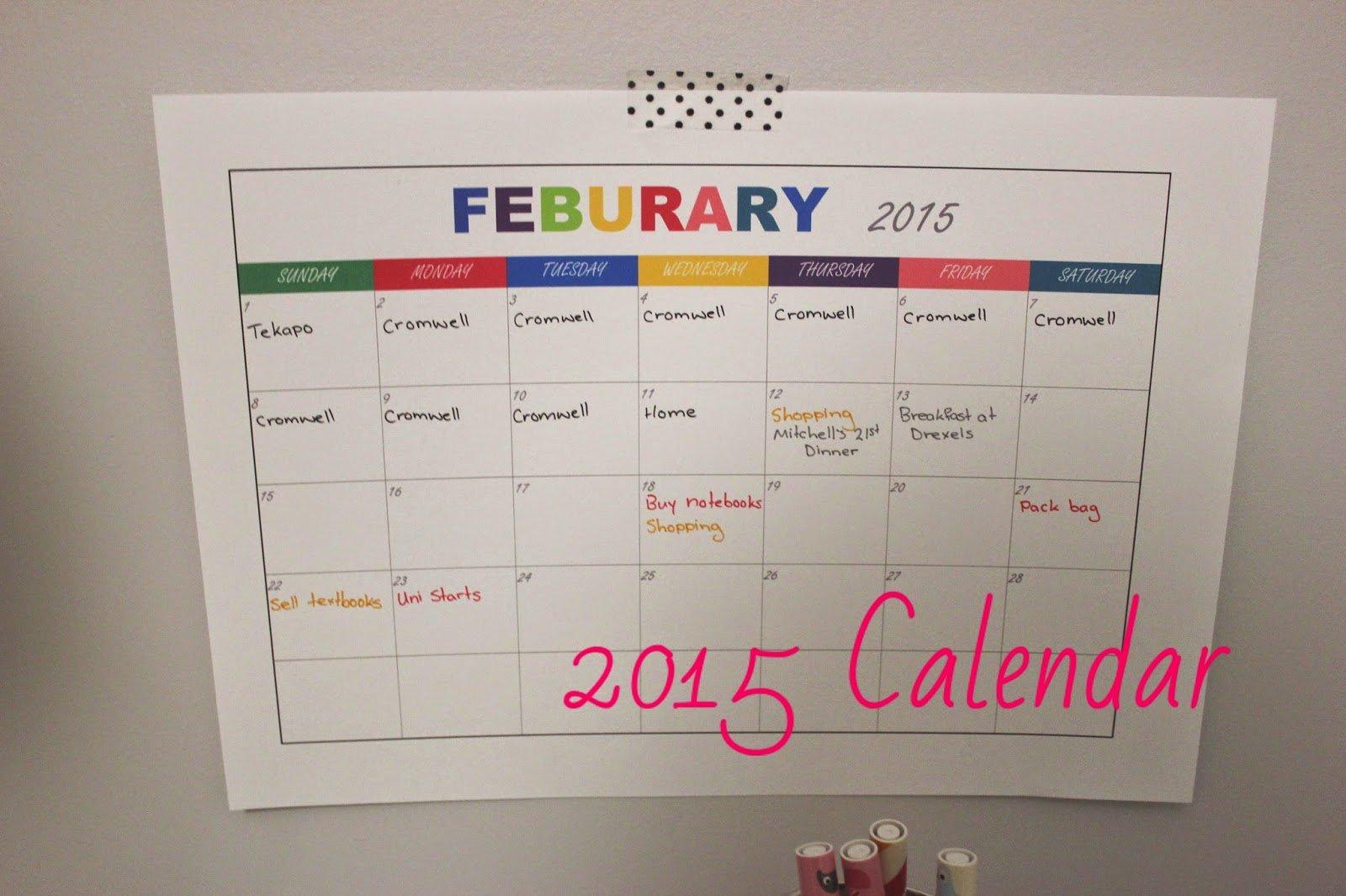 Polka Dots And Rainy Days: Calendar Printable Free Printable Color Coded Calendar