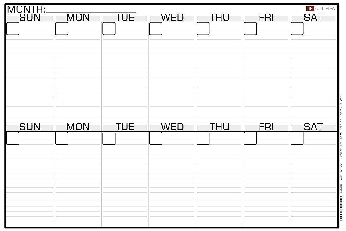 Printable 2 Week Blank Calendar Template | Monthly Printable 2 Week Blank Calendar Printable