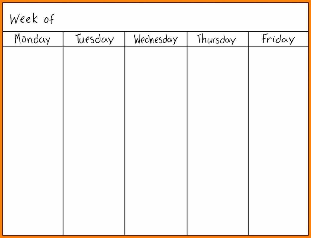 Printable Calendar Monday Through Sunday | Printable Blank Monday Thru Sunday Template