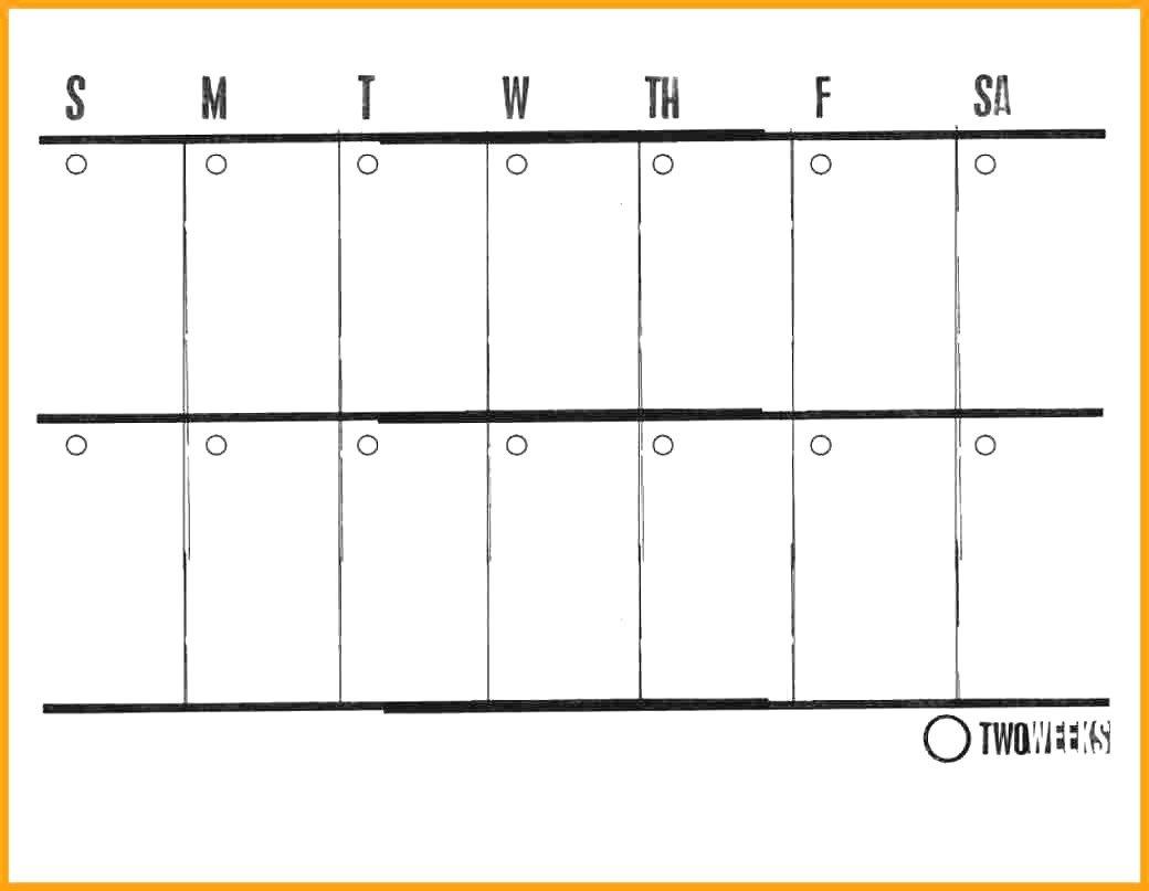 Printable Calendar Two Weeks   Printable Calendar 2020 Blank Two Week Printable Calendar