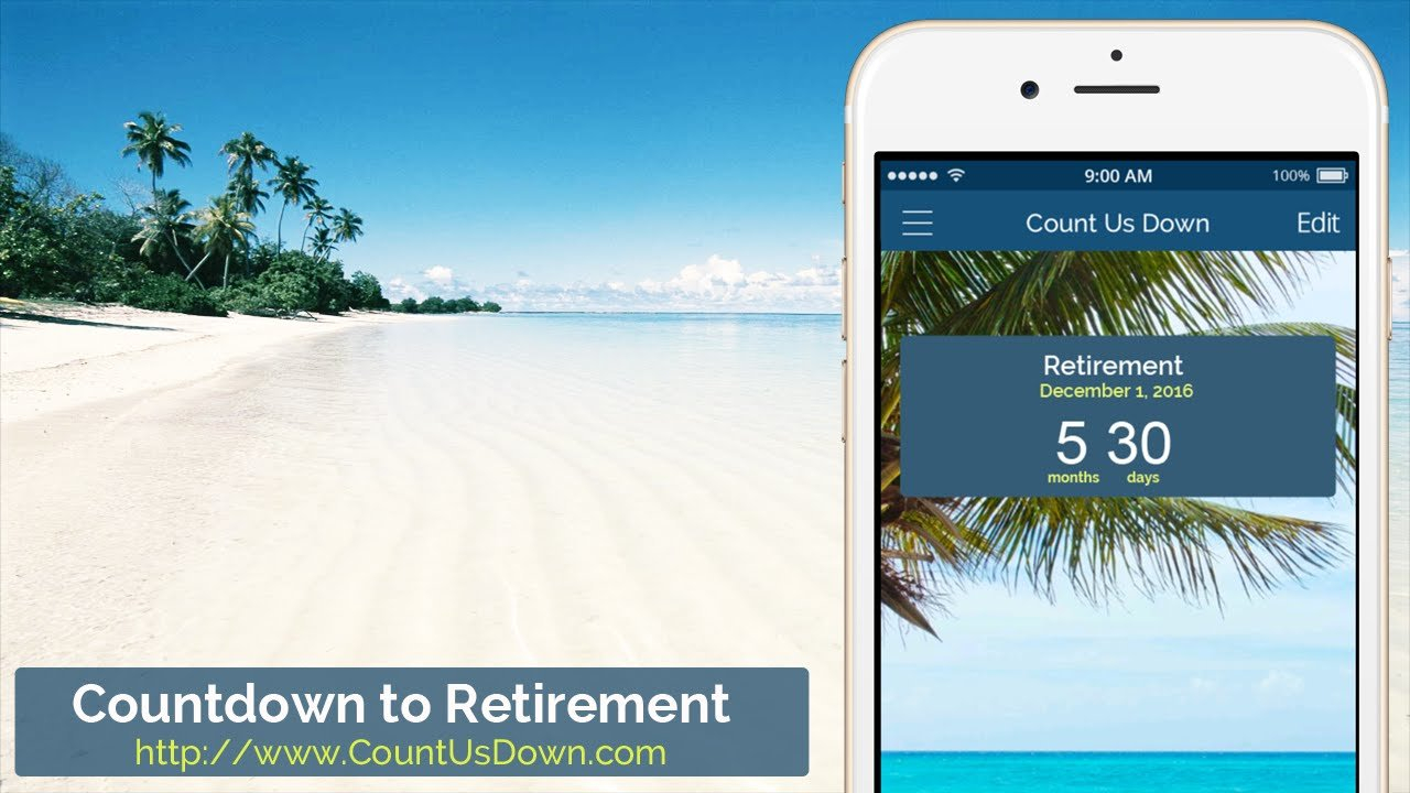 Retirement Countdown – App To Count Down The Days To Retirement Countdown To Retirement Calendar