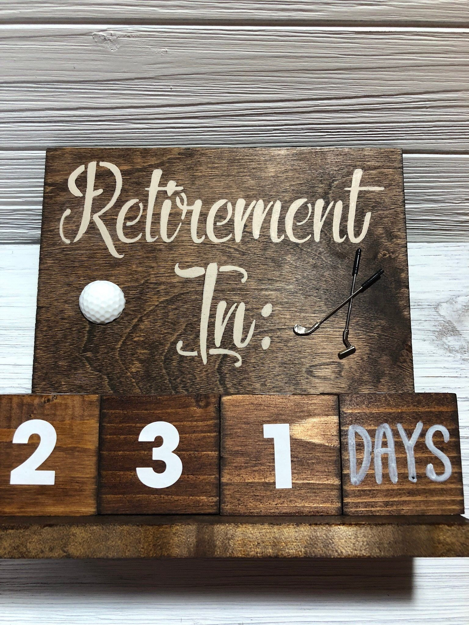 Retirement Gift Countdown Calendar, Golf Gifts Countdown To Retirement Calendar