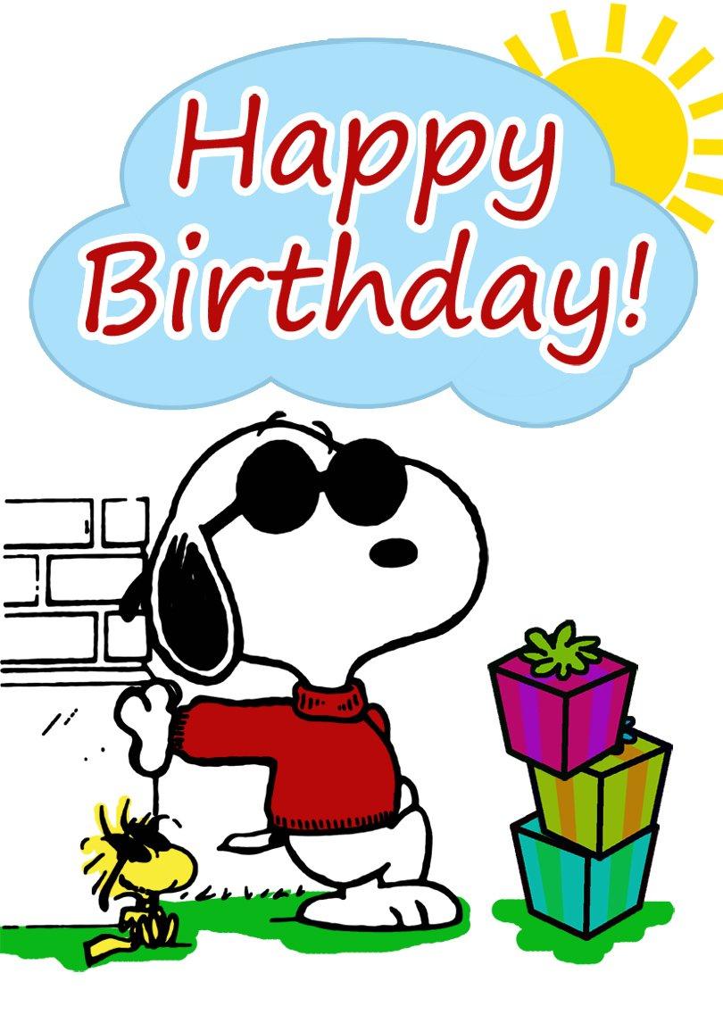 Snoopy Birthday Card   Free Printable Birthday Cards Free Printable Snoopy Images