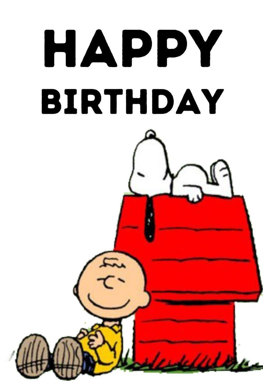 Snoopy Printable Birthday Cards — Printbirthday.cards Free Printable Snoopy Template