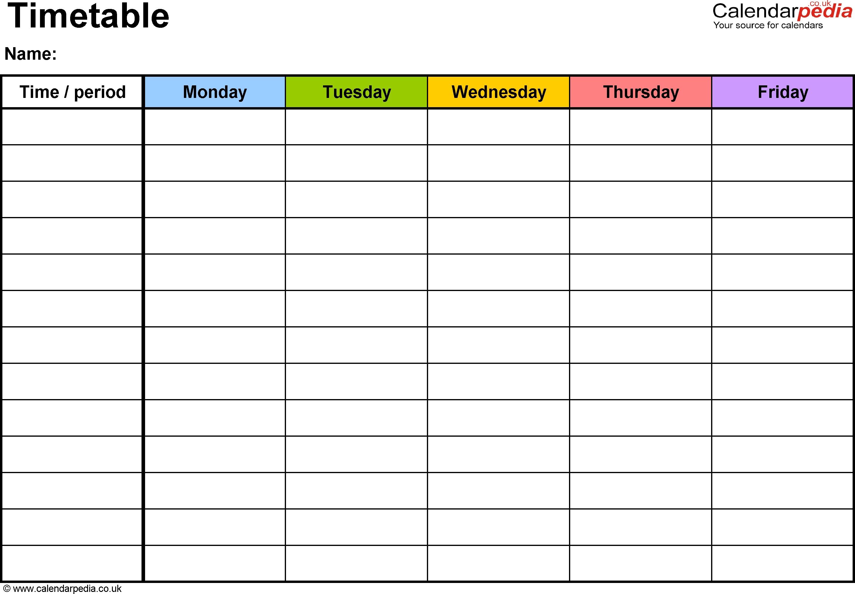Template Monday To Friday | Calendar Template Printable Calendar Monday – Friday Template