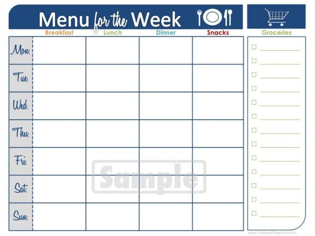Two Week Printable Calendar   Meal Planner Printable, Weekly Two Week Printable Calendar